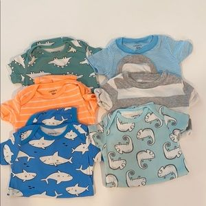 Carter's onesies. Size 12 months. Bundle of 6.